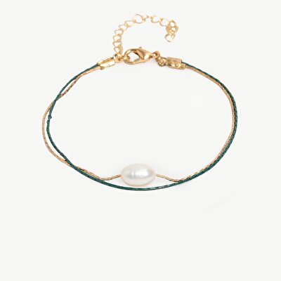 Adjustable Bracelet With Real Pearl