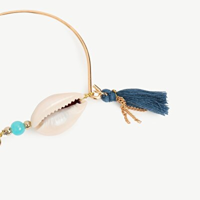 Bracelet With Tassel And Shell