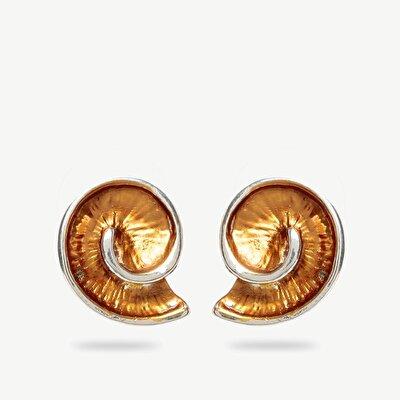 Earrings İn Snail Shape