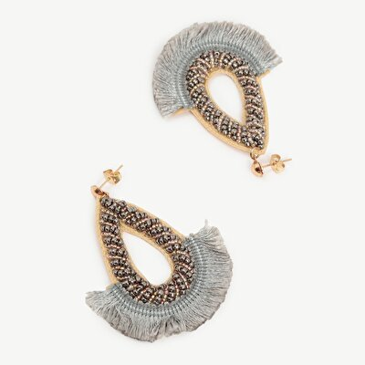 Earrings İn Drop Shape With Tassels