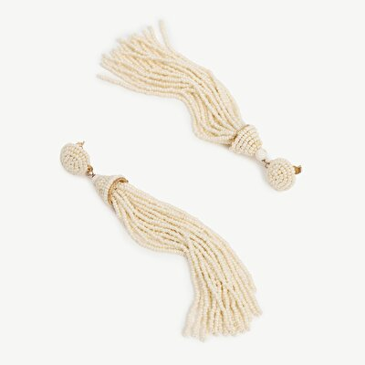 Earrings With Bead Tassels