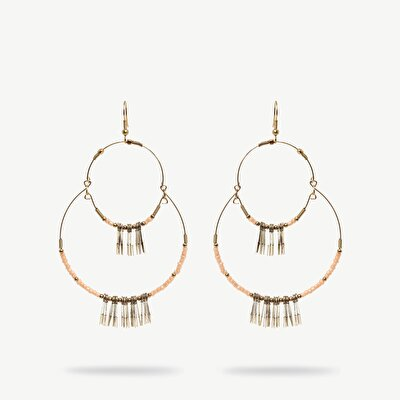 Hoop Earrings With Small Tassels