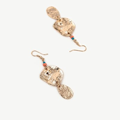 Earrings With Linked Geometrical Pieces