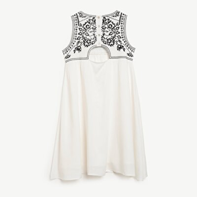 Embroidery Detailed Sleeveless Dress