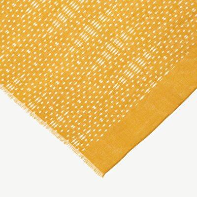 Minimal Print Cotton Scarf