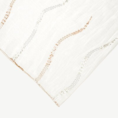 Silk Scarf With Sequin Emroidery