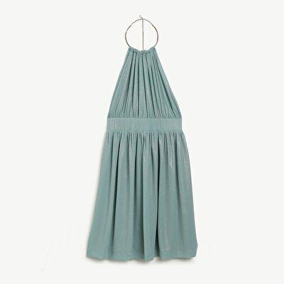 Büzgü Detaylı Elbise
