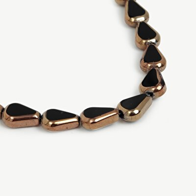 Black Necklace With Gold Details