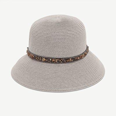 Taş Detaylı Kloşe Şapka