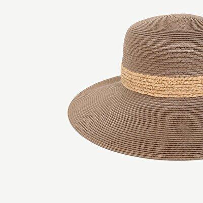 Çizgili Fötr Şapka