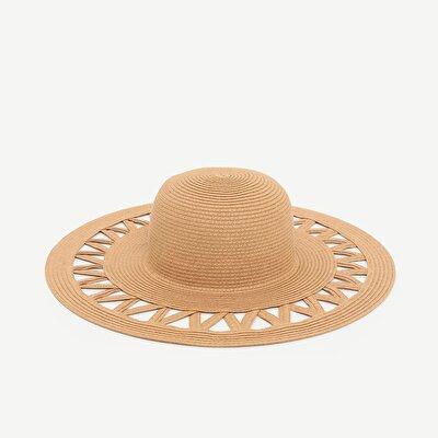 Delikli Hasır Şapka