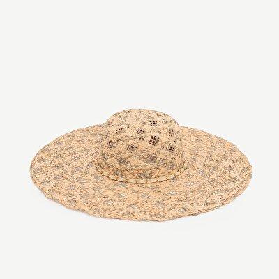 Zincir Detaylı Rafya Şapka