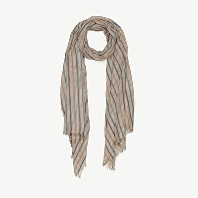 Lurex Striped Cotton Scarf