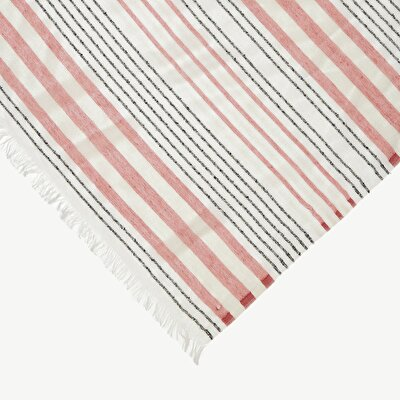 Cotton Scarf With Shinny Stripes