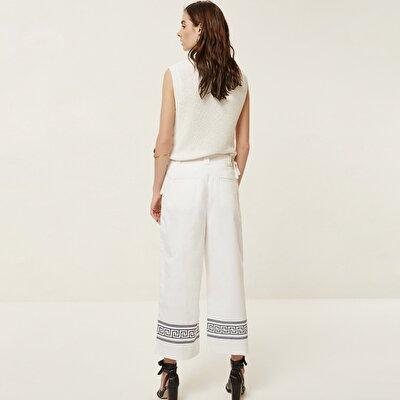 Paça Detaylı Denim Pantolon