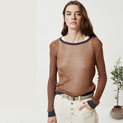 Low Shoulder Long Sleeve Knitwear