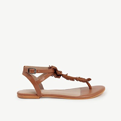 Ankle Tie Toe Post Leather Sandals