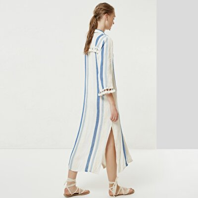 Fringe Detailed Shirt Dress