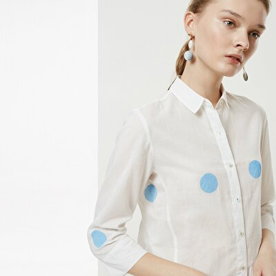 Gathering Detailed Shirt Dress