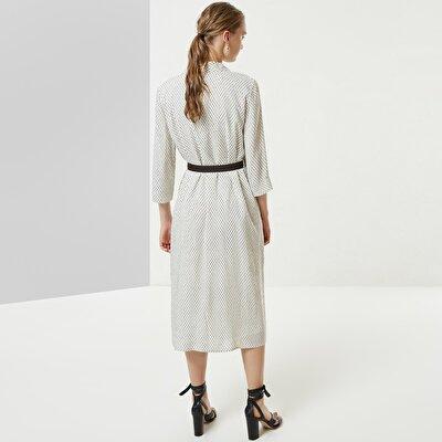 Belt Detailed Long Dress