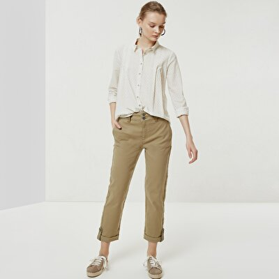 Apoulette Detailed Denim Trousers