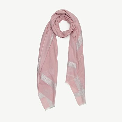 Cotton Scarf With Shinny Look