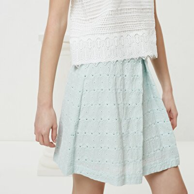 Pleat Detailed Mini Skirt