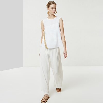 Gathered Loose Trouser