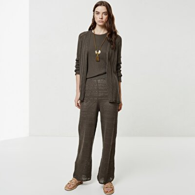 Textured Knitwear Trousers