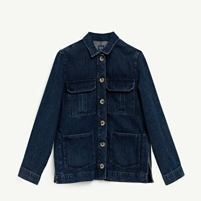 Grossgrain Detailed Denim Jacket
