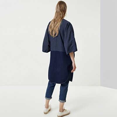 Button Detailed Denim Coat