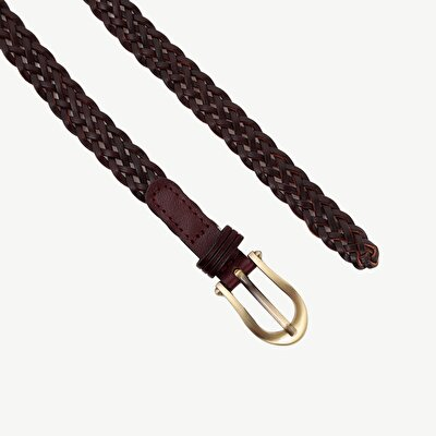 Thin Weave Leather Belt