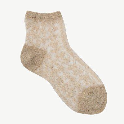 Şeffaf Sim Detaylı Çorap