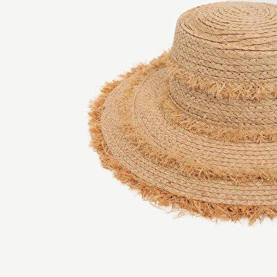 Püskül Detaylı Kaplin Şapka
