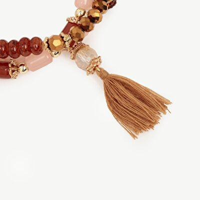 Multirow Bracelet With Tassels