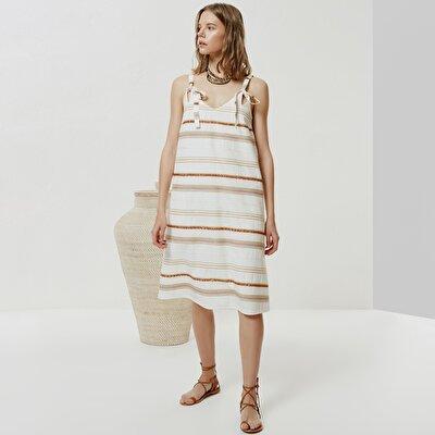Askı Detaylı Bol Elbise