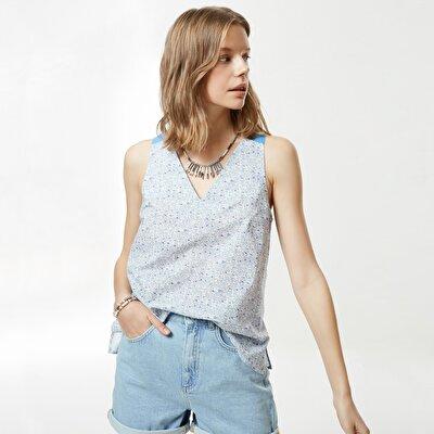 Kontrast Askılı Bluz