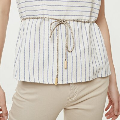 Belt Detailed Blouse