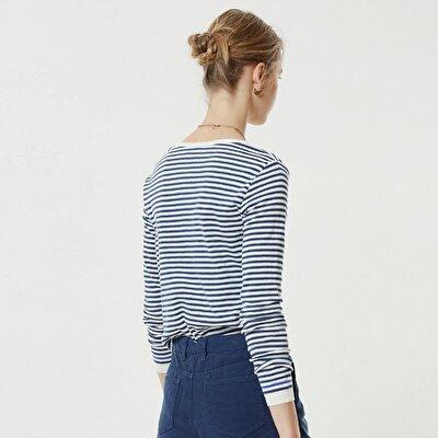 V Neck Striped Knitwear