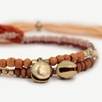 Adjustable Bracelet Set With Wooden Beads