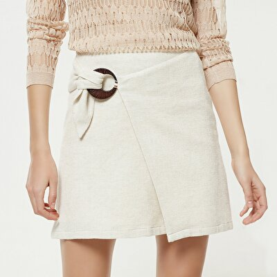Tie Detailed Mini Skirt