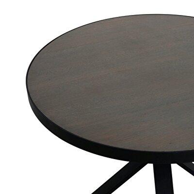 Yuvarlak Metal Ayaklı Masa (110x76cm)