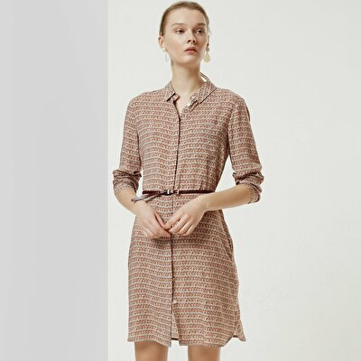 Belt Detailed Shirt Dress