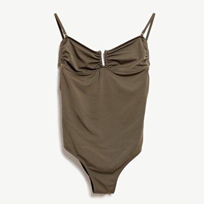 Badeanzug mit Rücken Schnürung