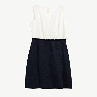 Anvelop Yaka Dizüstü Elbise
