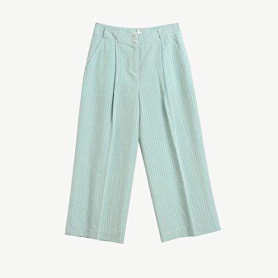 Cep Detaylı Bol Paça Pantolon