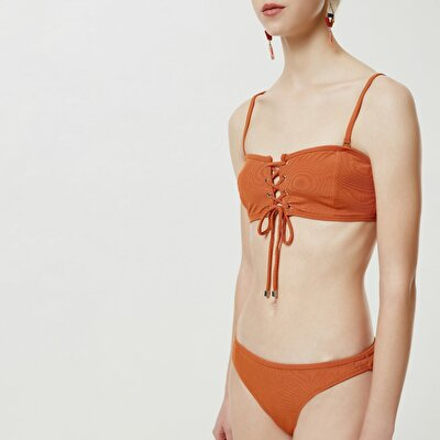 Eyelet Detailed Bikini Bottom