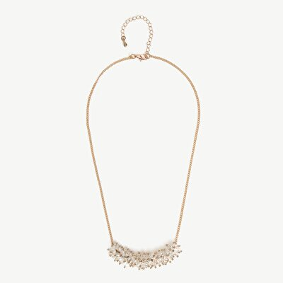Chain Necklace With Flower Pendant