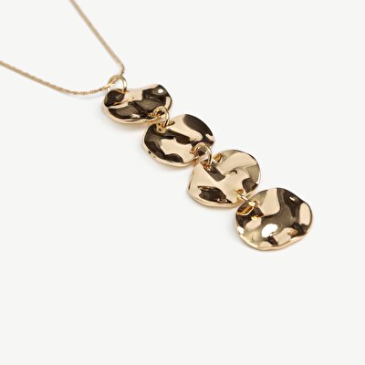 Chain Necklace With Forbed Metal Coins