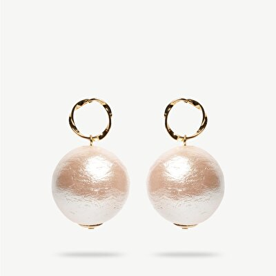 Earrings With Acrylic Pearl
